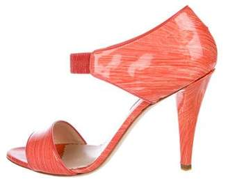 Oscar de la Renta Leather High Heel Sandals