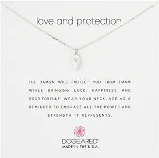 Dogeared Love and Protection, Heart Hamsa, Chain Necklace, Extender