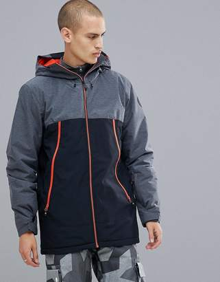 Quiksilver Sierra Ski Jacket in Black with Contrast Detail