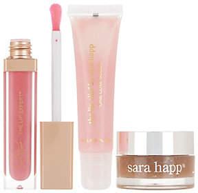 Sara Happ Vanilla Lip Scrub with Lip Slip &Pink Slip Gloss