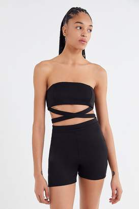 Urban Outfitters Strapless Criss-Cross Romper