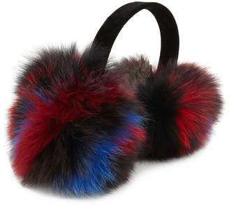 Surell Accessories Velvet & Fox Fur Earmuffs