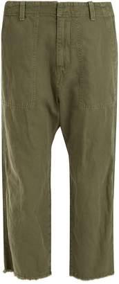 Nili Lotan Luna mid-rise cropped cotton-blend trousers