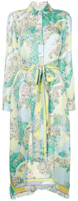 Emilio Pucci floral belted shirt dress