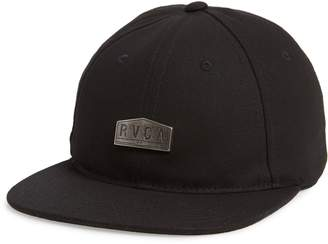 RVCA Emblem Flat Brim Ball Cap