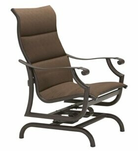 Tropitone Montreux Padded Sling Action Patio Chair Tropitone