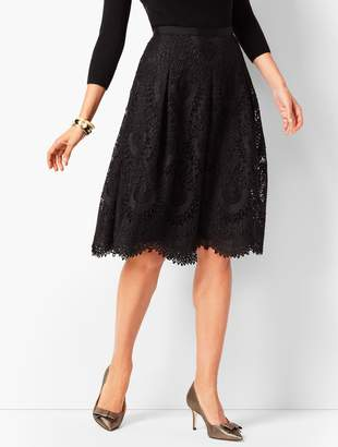 Talbots Pleated Lace Skirt