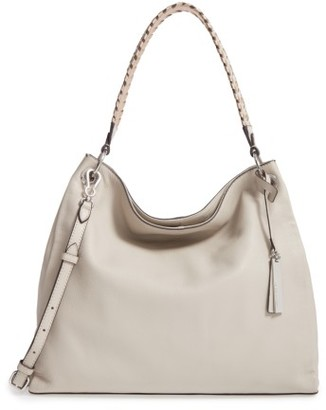 Vince Camuto Nadja Leather Hobo - Grey $258 thestylecure.com