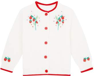 Rachel Riley Strawberry Embroidered Cardigan