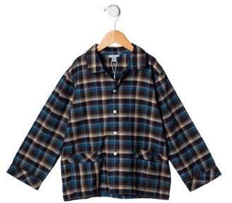 Papo d'Anjo Boys' Plaid Pajama Shirt w/ Tags