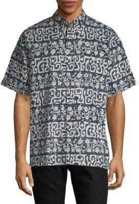 Reyn Spooner Tahitian Reyn Cotton Button-Down Shirt