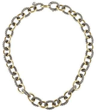 David Yurman Two-Tone Oval Link Necklace