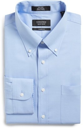 Men's Nordstrom Men's Shop Classic Fit Non-Iron Solid Dress Shirt $39 thestylecure.com