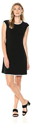 Tiana B Women's Extended Shoulder Jersey Dress with Contrast Piping