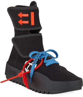 Off-White Moto Wrap Scuba Runner Sneakers with Arrows