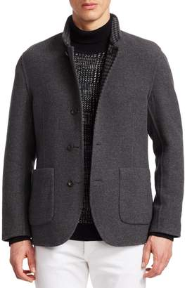 Brunello Cucinelli Reversible Houndstooth Single-Breasted Jacket