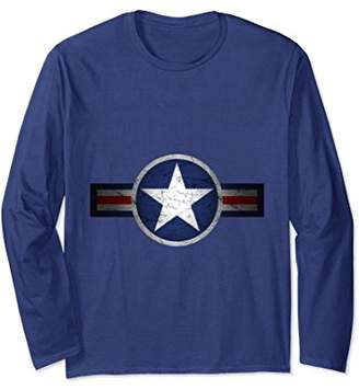 Vintage Army Air Corps Patriotic Star Long Sleeve