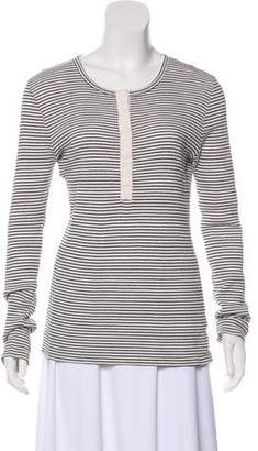 Club Monaco Striped Knit Top