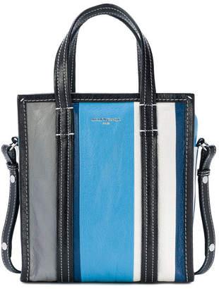 Balenciaga Shopper Bazar Striped XS Blue Grey White
