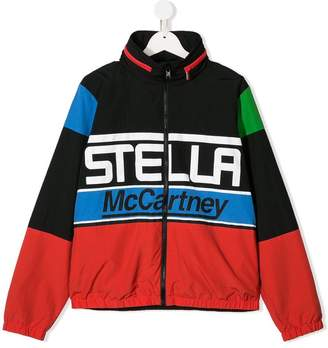 Stella McCartney TEEN logo print jacket