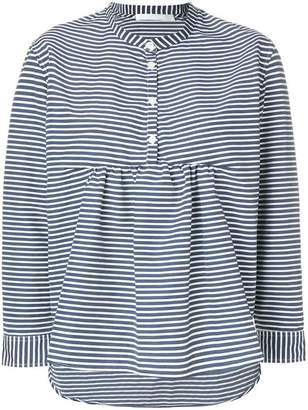 Peter Jensen collarless striped shirt