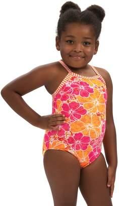 Dolfin Little Dolfin Toddler Hula Girl Print 1-Piece Swimsuit