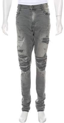 Amiri Distressed Moto Jeans