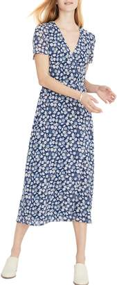 Madewell Floral Wrap Front Midi Dress