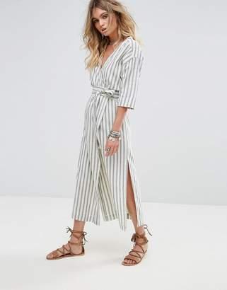 Tularosa Maddy Stripe Wrap Dress