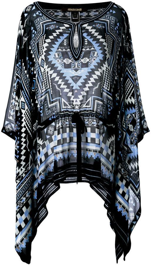 Roberto CavalliRoberto Cavalli printed batwing tunic