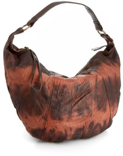 Lucky Brand Jeans Leather Tie-Dyed Hobo Bag