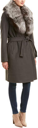 Elie Tahari Sasha Wool-Blend Coat
