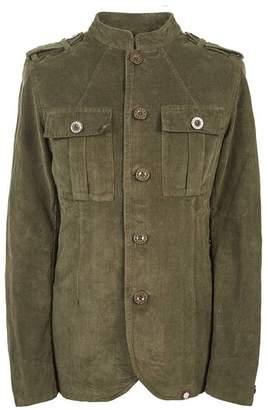 Pretty Green Mandarin Collar Corduroy Military Jacket