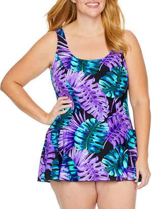Maxine Of Hollywood AZUL BY Azul by Leaf Swim Dress Plus