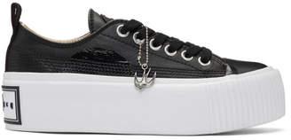 McQ Black Plimsoll Platform Low-Top Sneakers