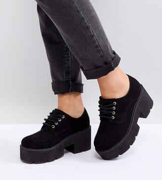 Asos DESIGN MEGA Wide Fit Chunky Lace Up Heels