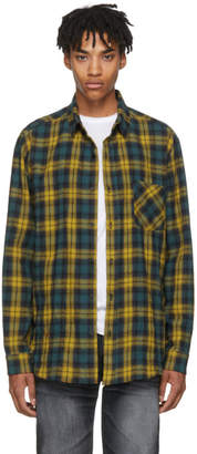 Adaptation Yellow and Green Plaid Boy Shirt