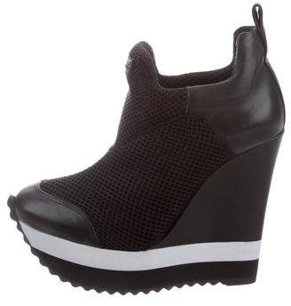 Ruthie Davis Leather Wedge Sneakers w/ Tags