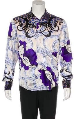 Just Cavalli Abstract Print Button-Up Shirt