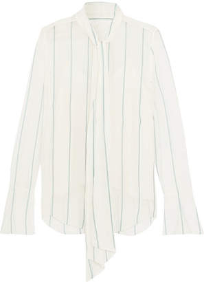 ba7ab5b665b Chloé Pussy-bow Pinstriped Silk-blend Georgette Blouse - Off-white