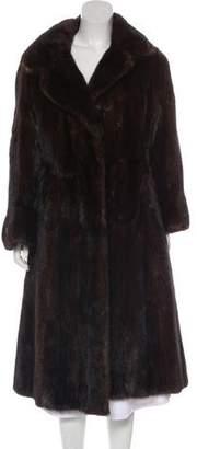 Fur Long Mink Fur Coat