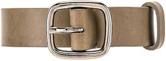 Comme des Garcons Leather Belt With Buckle in Stone | FWRD