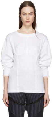 Facetasm White Long Sleeve Underwire T-Shirt
