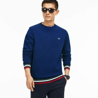 Lacoste Men's Striped Accent Fleece Sweatshirt