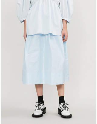 Simone Rocha Panelled-waist satin skirt