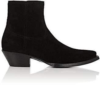 Saint Laurent Men's Lukas Suede Boots - Black