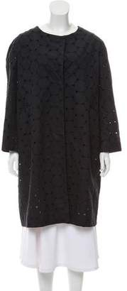 Sofie D'hoore Broderie Anglaise Knee-Length Coat