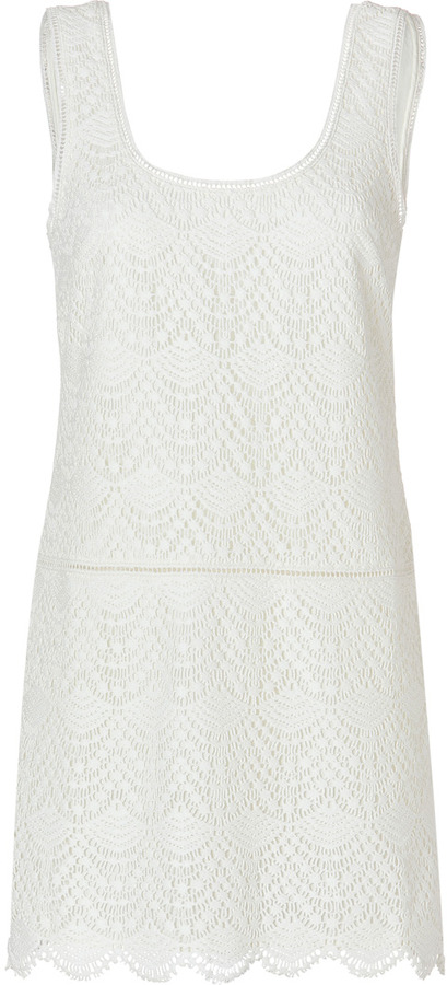 Juicy Couture Crochet Lace Tank Dress in Angel