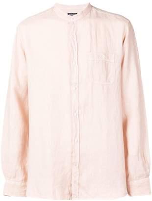 Woolrich plain band collar shirt