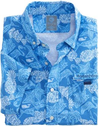 Vineyard Vines Short-Sleeve Island Icon Harbor Shirt